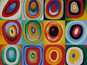 Studio del colore con quadrati - Vasili Kandinski era un pittore russo, un precursore dell'arte astratta nella pittura e un teor
