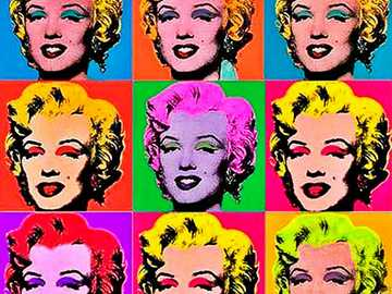 Marilyn Monroe - Andy Warhol, was an American plastic artist and filmmaker who played a crucial role in the birth and