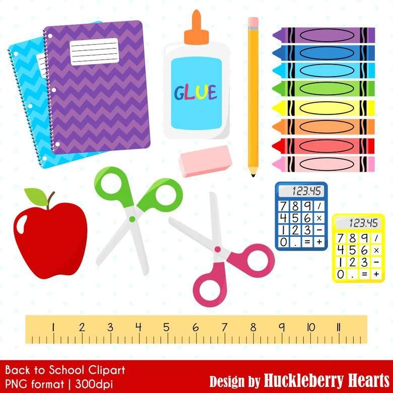 Tanszerek - Kellékiskolák. Iskolai ellátás az osztályteremben. Nézd meg a képet, és próbáld meg kitölteni, majd írd be az iskolai kellékek nevét (4×4)