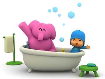 bath time 1 - who is having a bath?