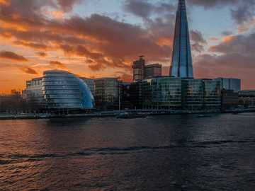 "landscape photography of a city - I went on a walk with my wife to explore the ""lesser known"" south bank of the Thames, east of To"