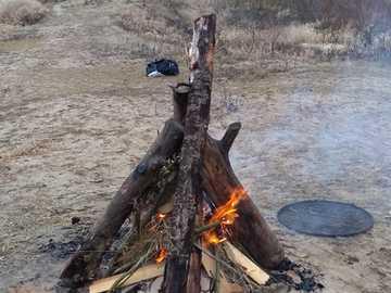 ognisko 2 - ognisko z pięknym widokiem na drzewa.