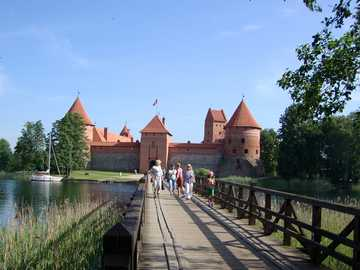 Lithuania - Trakai - Castle of Lithuanian princes in Trakai.