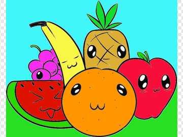 Frutas amigas - Ayúdame a organizar el rompecabezas, nuestras amigas están poco tristes