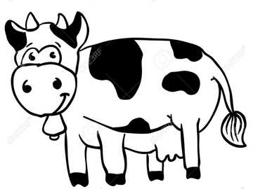 cow for kids - students have to make the cow in the puzzle