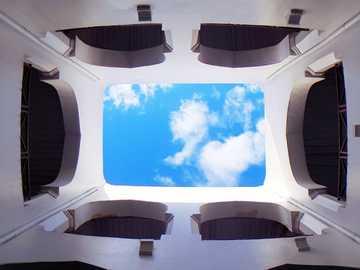 fotografía de ángulo bajo del interior del edificio - Encontrar lugares interesantes cuando tienes que caminar de un lugar a otro en el casco antiguo de S