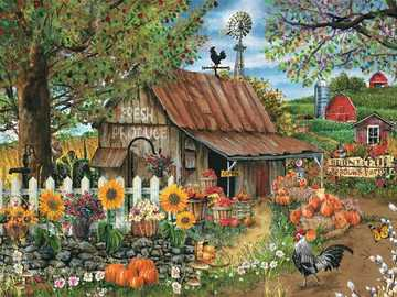 Countryside Farm. - For children: village farm.