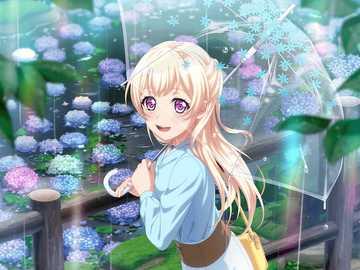 Květiny plovoucí na hladině vody - Věřím ve svrchovanost Shirasagi Chisato