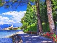 Promenade At Lake Garda.