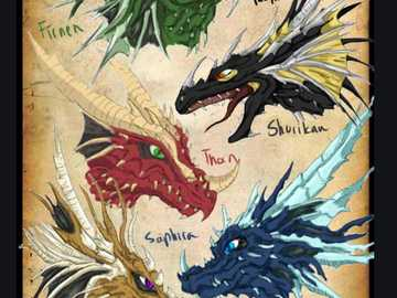 The dragons of Eragon - If you like the Eragon saga (or rather Heritage) this one shows the different dragons of this great