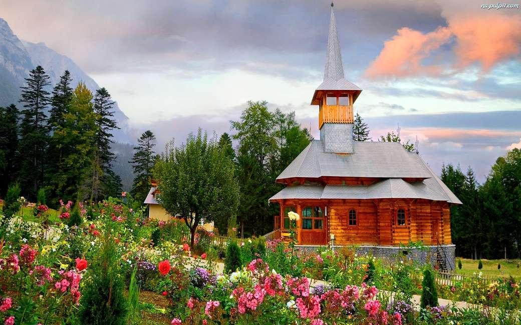 wiosna góry domek - wiosna góry domek krajobraz
