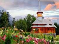 пролетна вила в планината