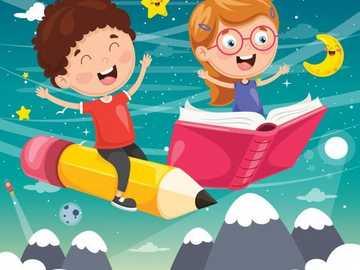 Dzieci bawiące się =) - Jak pięknie jest czytać! =)