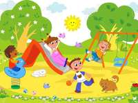 Jouer dans le parc