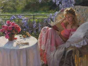 Vicente Romero - Art-fantasy-girl-feeding-squirrel-garden-butterfly-