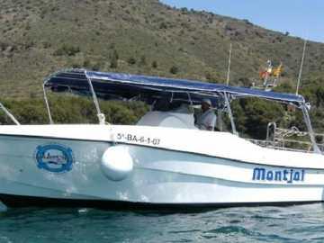 łódź nurkowa - łódź dla nurków na Cala Montjoi (Costa Brava)