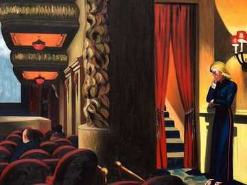 Edward Hopper - New York Movie, 1939 - It shows the false American dream of the great capital of the world, New York, a place where everyth