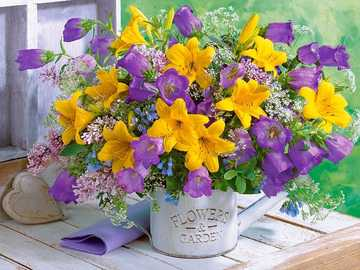 bouquet of lilies and bells - bouquet of lilies and bells - puzzle