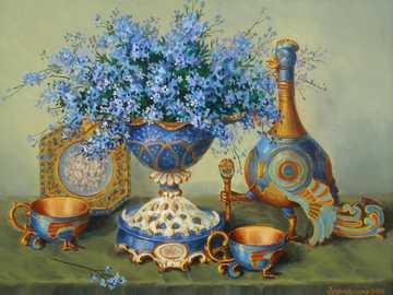 Vergissmeinnicht und eine einzigartige Vase - Vergissmeinnicht und eine einzigartige Vase - Tassen