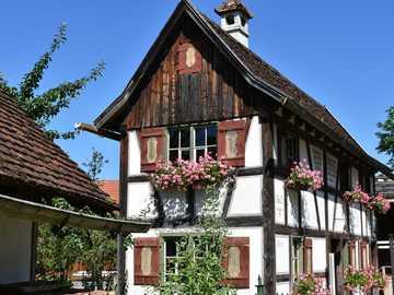Swabia - a museum - old farm in bavaria