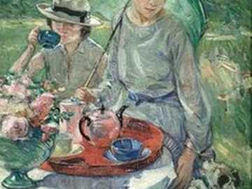 Launch Tea Party - Gail Carriger 1925 - British artist, Tea Table ... Afternoon Tea