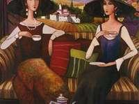 Tea Time, panneau central