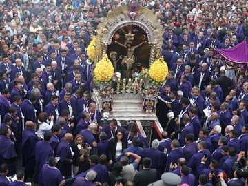 """Lord of Miracles"" - It is a religious celebration, held in Lima every October 18."