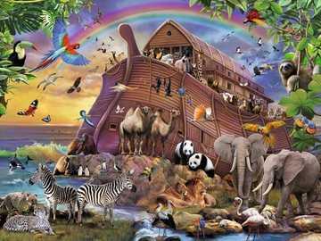 Arche Noah. - Tiere aus der Arche Noah.