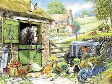 In the countryside... - Puzzle for children: in the countryside.