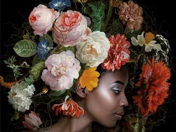 Flowers and woman - Woman with flower headdress