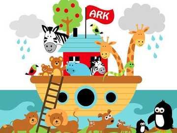 Arche Noah - Setze das Puzzle wieder zusammen und welche Tiere kennst du?