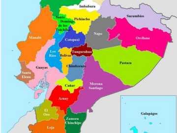 Map of my dear Ecuador - This map represents my country called Ecuador