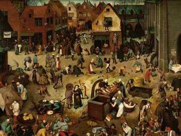 """""""A luta entre o Carnaval e a Quaresma"""" de Bruegel - """"A luta entre o Carnaval e a Quaresma"""" de Bruegel O Velho,"""