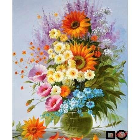 bouquet in bright colors - bouquet in bright colors - diamond tapestry