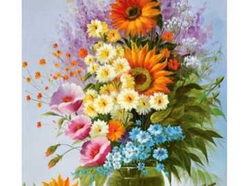 Blumenstrauß in leuchtenden Farben - Blumenstrauß in leuchtenden Farben - Diamantteppich