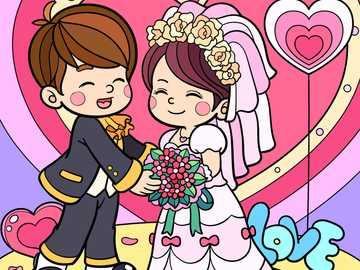 Pareja de boda - Si ya se casó o está por casarse durante este momento estresante, ¡felicidades! ¡Lo hiciste real