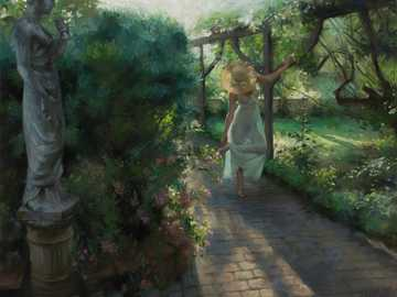 Vicente Romero - Pastel, Vicente Romero and the beauty of now, A flower among green leaves