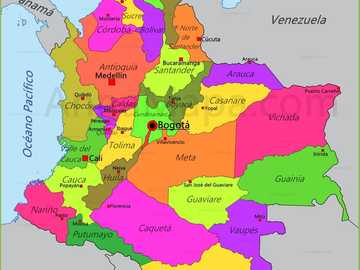 Colombia - order the physical geography of your country