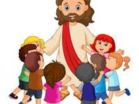 Jesus and his teachings - Jesus teaches the children