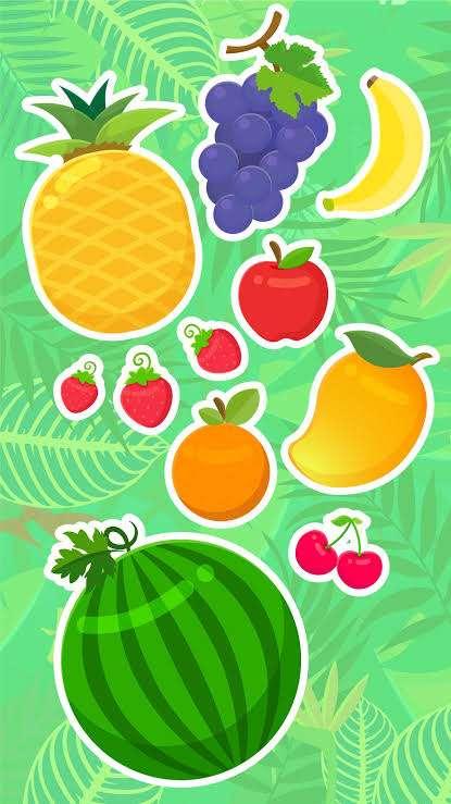 ovoce pro děti - ovoce děti anime (3×5)
