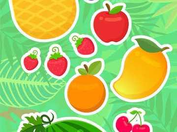 fructe pentru copii - fructe anime copii