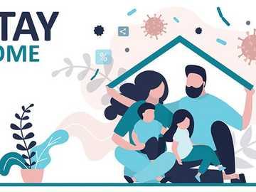 Bleib zuhause - Neue soziale Gewohnheiten angesichts des Covid-Notfalls - 19 Schlüsselwörter: Präventionsänderun