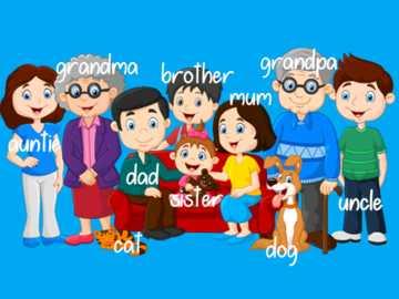 Familienmitglieder - Legen Sie die Stücke an die richtige Stelle