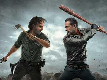 Negan i Rick - Bitwa między Neganem i Rickiem