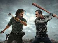 Negan y Rick