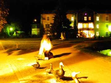 nałęczów - Beautifully illuminated Nałęczów at night
