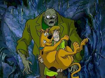 Scooby Doo - Scooby Doo puzzle monstra