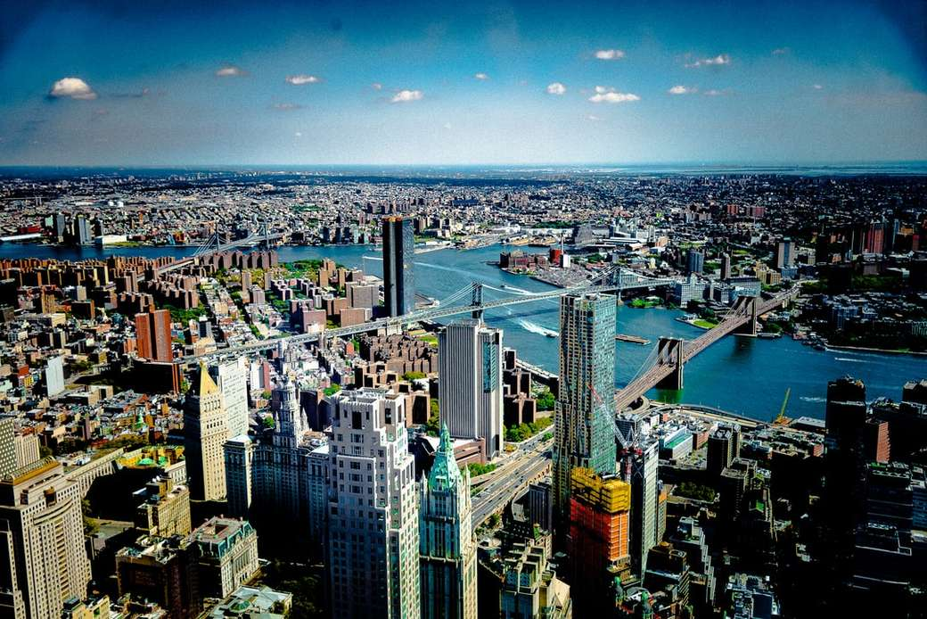 New York City - aerial view of city at daytime.