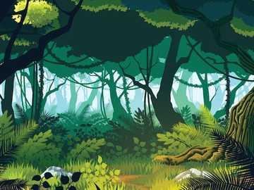 Obraz dżungli - Obraz dżungli, aby wyjść razem