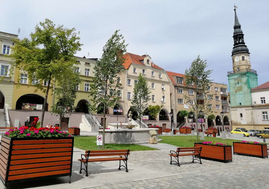 Place du marché - Bolków - Marché pittoresque à Bolków